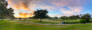 sunset over Bobby Jones Golf Club