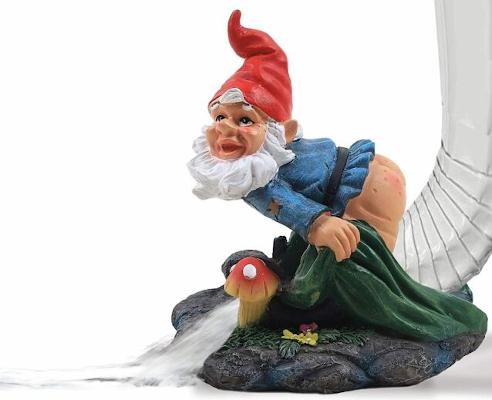 gnome gutter spout